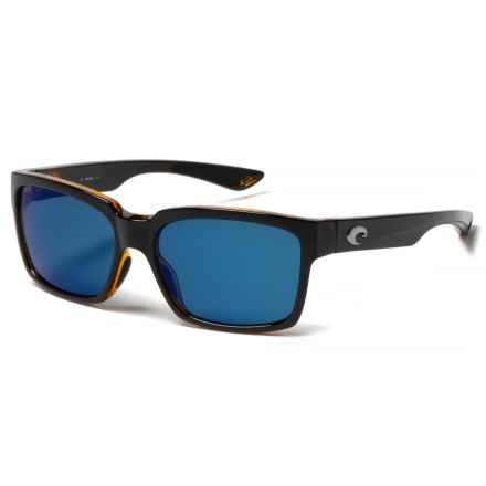 Costa Playa Sunglasses - Polarized 580P Lenses in Black/Amber/Blue Mirror - Closeouts