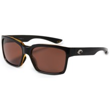 Costa Playa Sunglasses - Polarized 580P Lenses in Black Amber/Copper - Closeouts