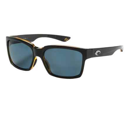 Costa Playa Sunglasses - Polarized 580P Lenses in Black Amber/Gray - Closeouts