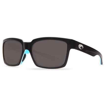 Costa Playa Sunglasses - Polarized 580P Lenses in Black/White/Aqua Gray - Closeouts