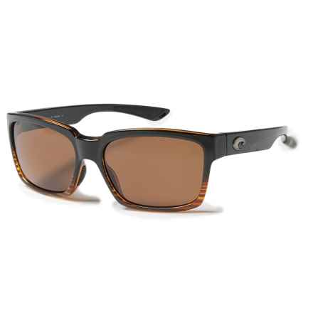 Costa Playa Sunglasses - Polarized 580P Lenses in Coconut Fade/Amber - Closeouts