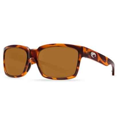 Costa Playa Sunglasses - Polarized 580P Lenses in Honey Tortoise/Amber - Closeouts