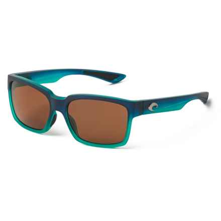 Costa Playa Sunglasses - Polarized 580P Lenses in Matte Caribbean Fade Amber - Closeouts