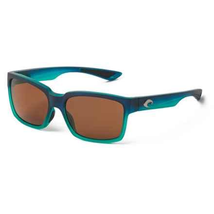 Costa Playa Sunglasses - Polarized 580P Lenses in Matte Caribbean Fade Amber - Closeouts