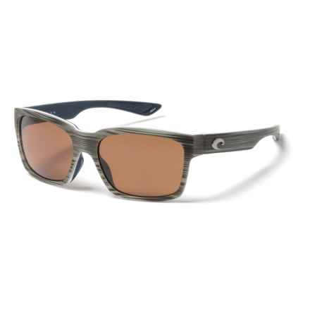 Costa Playa Sunglasses - Polarized 580P Lenses in Matte Silver Teak/White/Blue/Copper - Closeouts