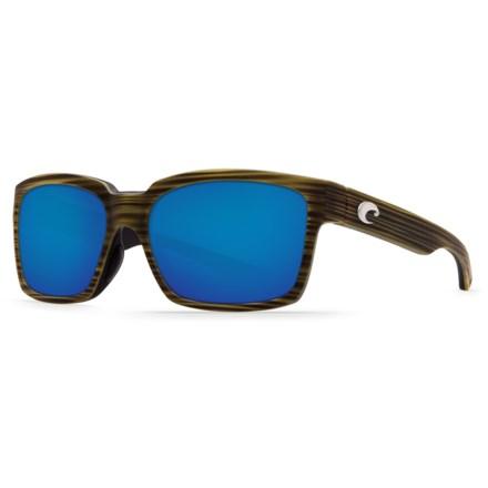 66c445c8710eb Costa Playa Sunglasses - Polarized 580P Mirror Lenses in Matte Verde  Teak Black Blue