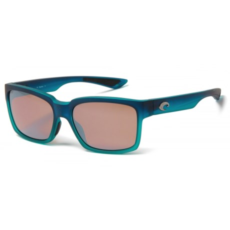 Costa Playa Sunglasses - Polarized Mirror 580P Lenses (For Women) in Caribbean Fade/Silver