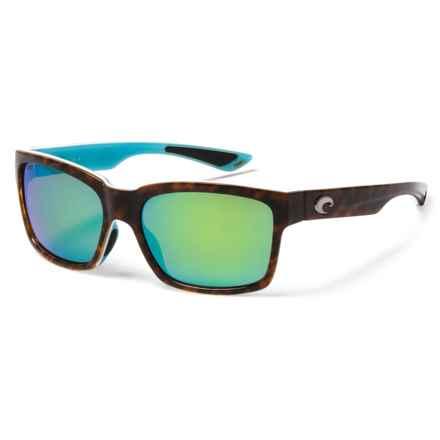 Costa Playa Sunglasses - Polarized Mirror 580P Lenses in Light Tortoise/White/Aqua/Green Mirror - Closeouts