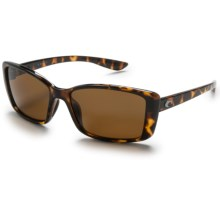 Costa Pluma Sunglasses - Polarized 400P Lenses (For Women) in Retro Tortoise/Dark Amber - Closeouts