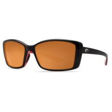 Costa Pluma Sunglasses - Polarized 580P Lenses (For Women) in Black Coral/Copper - Closeouts
