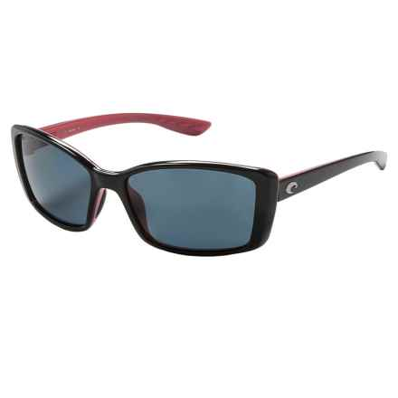 Costa Pluma Sunglasses - Polarized 580P Lenses (For Women) in Black Coral/Gray - Closeouts
