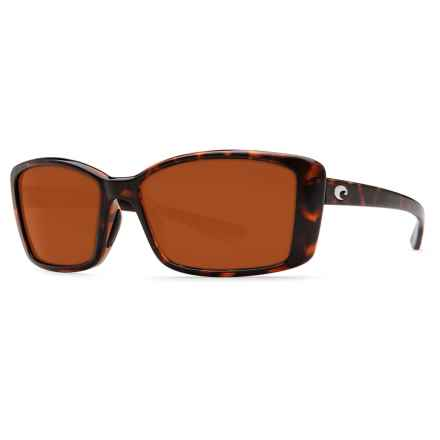 Costa Pluma Sunglasses - Polarized 580P Lenses (For Women) in Retro Tortoise/Copper - Closeouts
