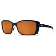 Costa Pluma Sunglasses - Polarized 580P Lenses (For Women) in Topaz White/Copper - Closeouts