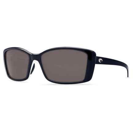 Costa Pluma Sunglasses - Polarized 580P Lenses (For Women) in Topaz White/Gray - Closeouts