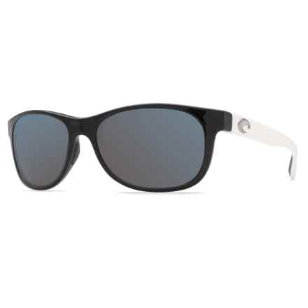 Costa Prop Sunglasses - Polarized 580P Lenses in Black White/Gray - Closeouts