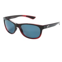 Costa Prop Sunglasses - Polarized 580P Lenses in Pomegranate Fade/Gray - Closeouts