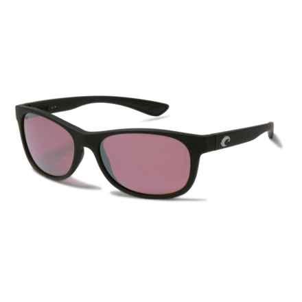Costa Prop Sunglasses - Polarized 580P Mirror Lenses in Black/Silver Mirror - Closeouts