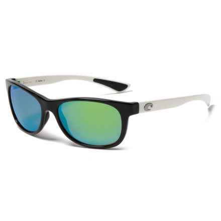 Costa Prop Sunglasses - Polarized Mirror 580P Lenses in Black/White/Green - Closeouts
