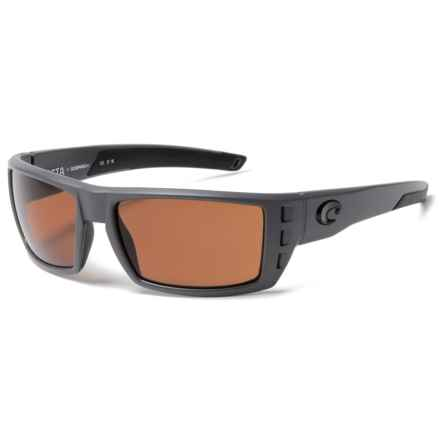 Costa Rafael Sunglasses - Polarized 580P Lenses in Matte Gray/Copper - Closeouts