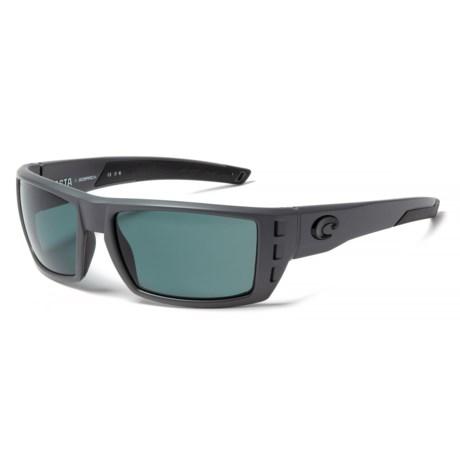 Costa Rafael Sunglasses - Polarized 580P Lenses in Matte Gray Ocearch/Gray Mirror