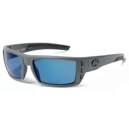 Costa Rafael Sunglasses - Polarized Mirror 580P Lenses in Matte Gray/Blue Mirror - Closeouts