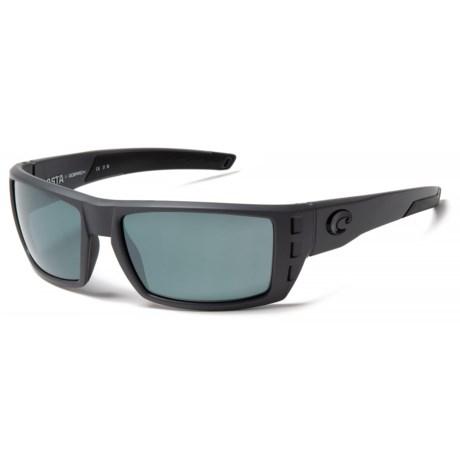 Costa Rafael Sunglasses - Polarized Mirror 580P Lenses in Matte Gray Ocearch/Gray Silver Mirror