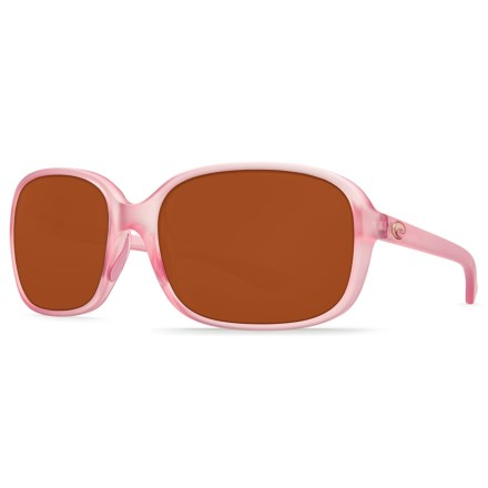 34588bfdadad9 Costa Riverton Sunglasses - Polarized 580P Lenses (For Women) in Matte  Hibiscus Crystal