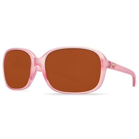 4bda9dc5f0120 Costa Riverton Sunglasses - Polarized 580P Lenses (For Women) in Matte  Hibiscus Crystal