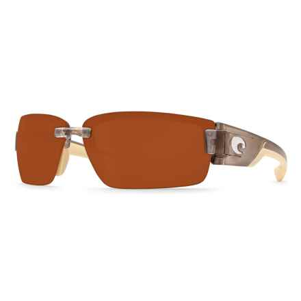 Costa Rockport Sunglasses - Polarized 580P Lenses in Crystal Bronze Copper - Closeouts