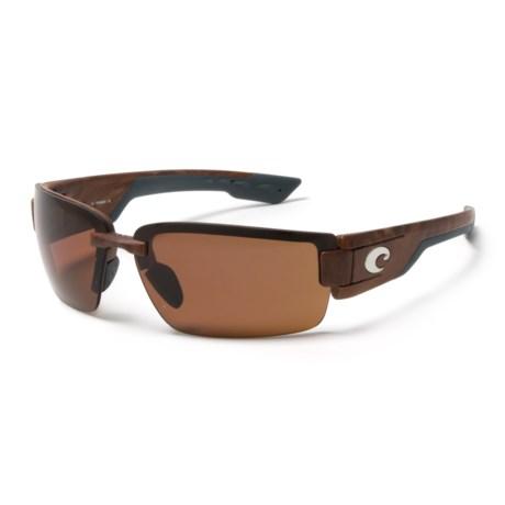 Costa Rockport Sunglasses - Polarized 580P Lenses in Gunstock/Copper