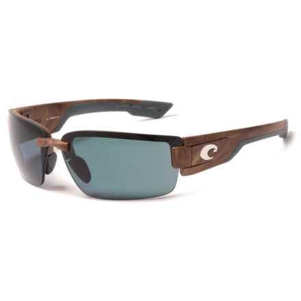 Costa Rockport Sunglasses - Polarized 580P Lenses in Gunstock/Gray - Closeouts