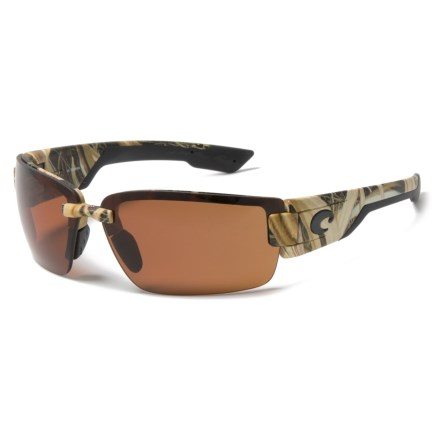 80b34dfdc0 Costa Rockport Sunglasses - Polarized 580P Lenses in Mossy Oak Copper -  Closeouts