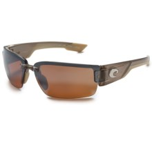 Costa Rockport Sunglasses - Polarized 580P Mirror Lenses in Crystal Bronze/Silver Mirror - Closeouts