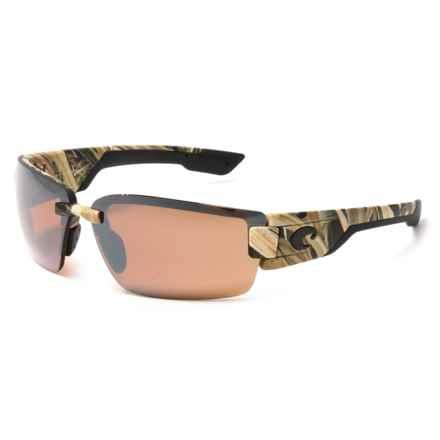 Costa Rockport Sunglasses - Polarized 580P Mirror Lenses in Mossy Oak Shadow Grass Blades Camo/Silver Mirror - Closeouts