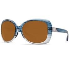Costa Sea Fan Sunglasses - Polarized 580P Lenses (For Women) in Topaz Fade/Amber - Closeouts