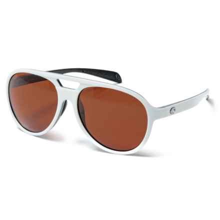 Costa Sea Fan Sunglasses - Polarized 580P Lenses (For Women) in White Black/Copper 580P - Closeouts