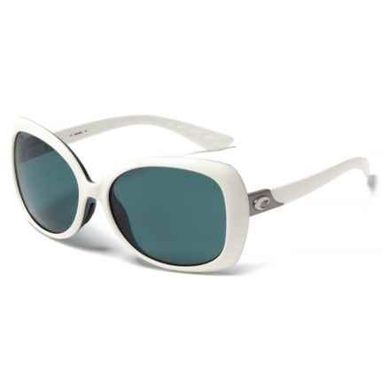Costa Sea Fan Sunglasses - Polarized 580P Lenses (For Women) in White/Topaz Gray - Closeouts