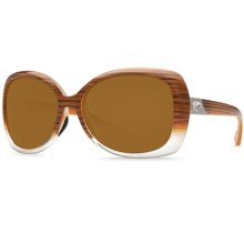 Costa Sea Fan Sunglasses - Polarized 580P Lenses (For Women) in Wood Fade/Amber - Closeouts