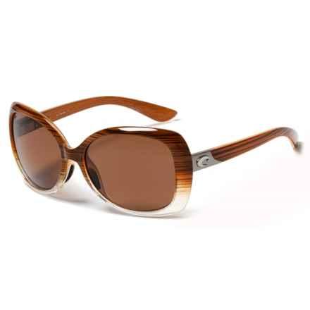Costa Sea Fan Sunglasses - Polarized 580P Lenses (For Women) in Wood Fade/Copper - Closeouts