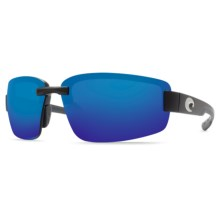 Costa Seadrift Sunglasses - Polarized 580P Mirrored Lenses in Black/Blue Mirror 580P - Closeouts