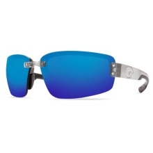 Costa Seadrift Sunglasses - Polarized 580P Mirrored Lenses in Silver/Blue Mirror 580P - Closeouts