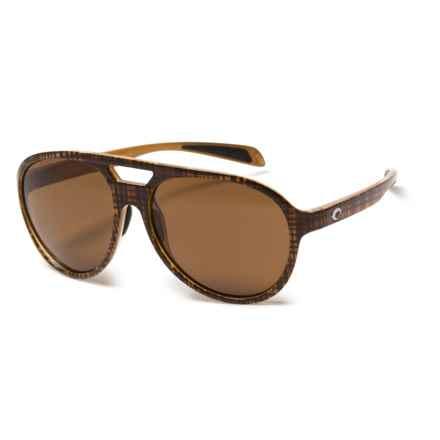 Costa Seapoint Sunglasses - Polarized CR-39® Lenses in Scotch/Amber - Closeouts