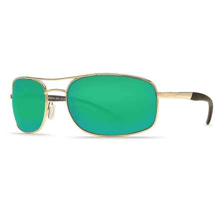Costa Seven Mile Sunglasses - Polarized 400G Glass Lenses in Gold/Green Mirror - Closeouts