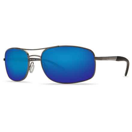 Costa Seven Mile Sunglasses - Polarized 400G Glass Lenses in Gunmetal/Blue Mirror - Closeouts