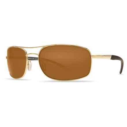 Costa Seven Mile Sunglasses - Polarized 580P Lenses in Gold/Amber - Closeouts