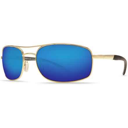 Costa Seven Mile Sunglasses - Polarized, Mirrored 580P Lenses in Gold/Blue Mirror - Closeouts