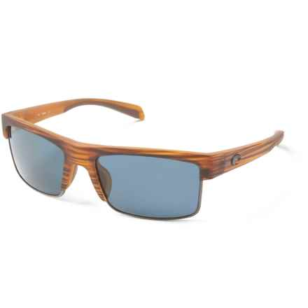 b16324e94c2 Costa South Sea Sunglasses - Polarized 580P Lenses in Matte Teak Gunmetal  Grey - Closeouts