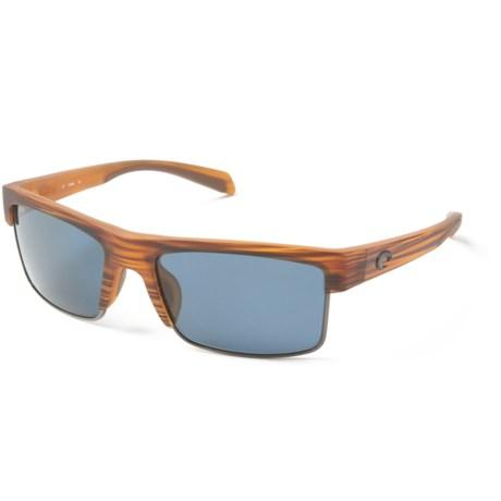 746c50a9e6 Costa South Sea Sunglasses - Polarized 580P Lenses in Matte Teak Gunmetal  Grey