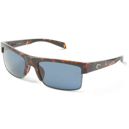 Costa South Sea Sunglasses - Polarized 580P Lenses in Retro Tortoise/Gunmetal/Gray - Closeouts