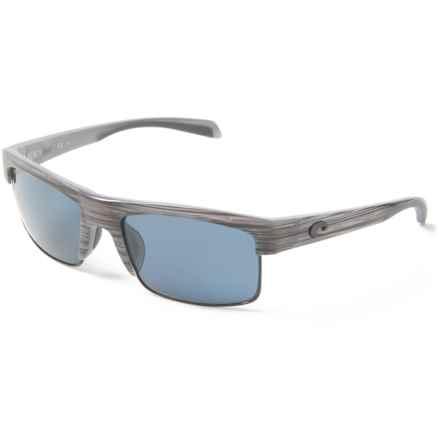 Costa South Sea Sunglasses - Polarized 580P Lenses in Silver Teak/Black/Gray - Closeouts